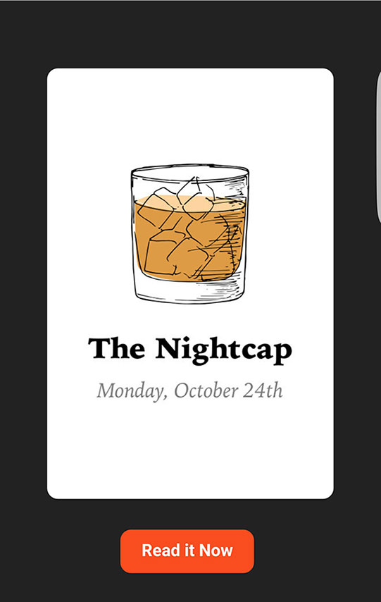 "Screenshot of ""The Nightcap"""